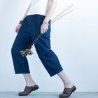 Straight-Leg Cropped Pants 1596