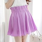 Accordion Pleat Chiffon Skirt 1596