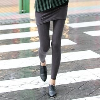 Skirt Overlaid Leggings