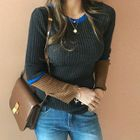 Contrast-Trim Slim-Fit Ribbed Knit Top 1596