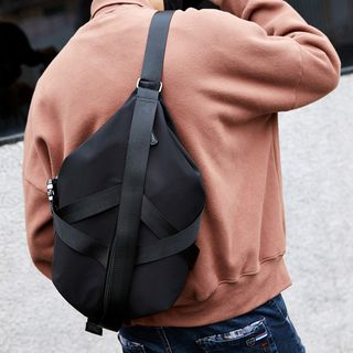 Image of Cross Strap Sling Bag Black - One Size