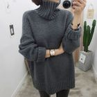 Turtle Neck Ribbed Sweater 1596
