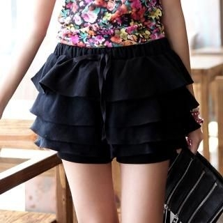 Picture of Vanilla French Tiered Skort 1022558521 (Vanilla French Pants, South Korea Pants)