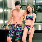 Women Set: Print Bikini + Swim Skirt / Men Swim Shorts 1596