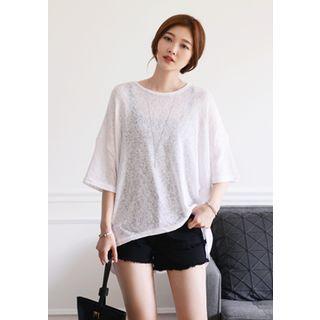 Drop-Shoulder Loose-Fit Knit Top 1050309059