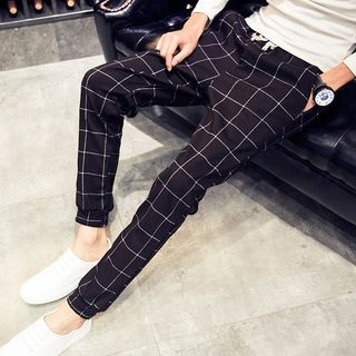 Plaid Harem Pants 1056471829