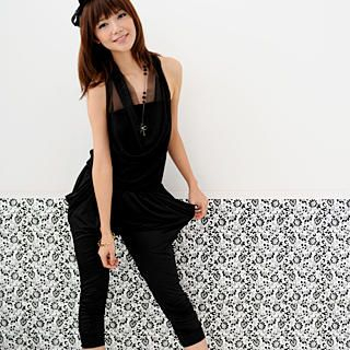 Buy 59 Seconds Mesh Halter Jumpsuit Black – One Size 1022755462