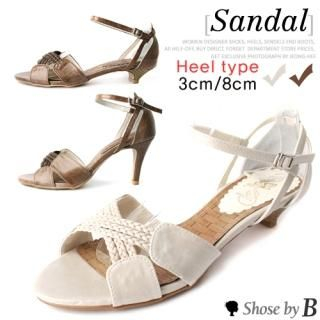 Buy Shoes by B Crossed Strap Sandals (2 Designs) 1023048332