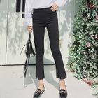Plain Boot-cut Pants 1596