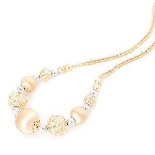 Image For 18K White & Yellow Gold Necklace