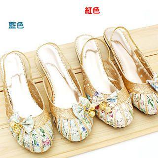 Buy KAWO Bow Printed Slingback Kitten-Heels 1022759362
