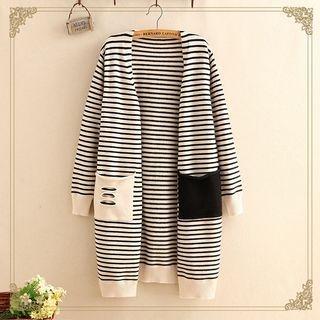 Striped Long Cardigan 1062504496