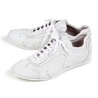 Buy Purplow All-Over Punched Point Sneakers White 1004910004