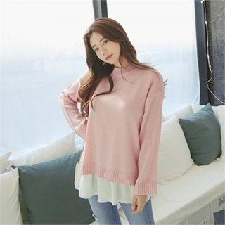 Drop-Shoulder Knit Top 1057642725