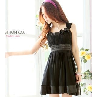Buy Tokyo Fashion Sleeveless Rosette-Detail Cocktail Dress 1022859598