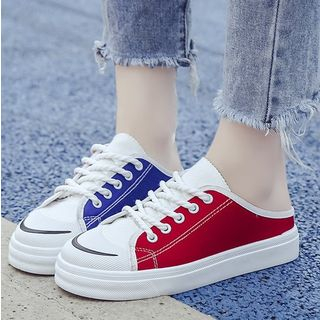 Image of Colour Block Canvas Sneakers