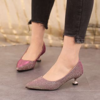 Image of High-Heel Pointy-Toe Pumps