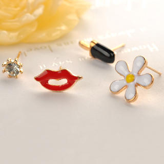Set of 4: Earrings  Others - One Size 1032435652