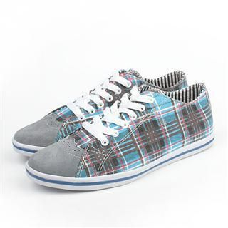 Picture of BSQT Plaid Lace-Up Sneakers 1022469126 (Sneakers, BSQT Shoes, Taiwan Shoes, Mens Shoes, Mens Sneakers)