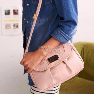 Pleated Flap Shoulder Bag