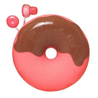 Image of Zumreed Donuts Earphone (Cord Wrap + Earphones) (Strawberry Chocolate)