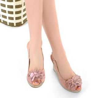 Picture of KAWO Flower-Accent Wedges 1022900064 (Other Shoes, KAWO Shoes, China Shoes, Womens Shoes, Other Womens Shoes)
