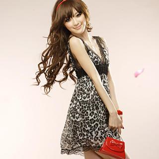 Buy Tokyo Fashion Sleeveless Leopard Print Babydoll Dress 1022898062