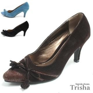 Buy Trisha Tassel Ribbon Faux Suede Pointy Pumps – Heels 7cm 1021145440