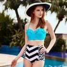 HIgh-Waist Ruffle Bikini 1596