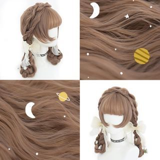Image of Medium Full Wig - Braided Transparent - One Size