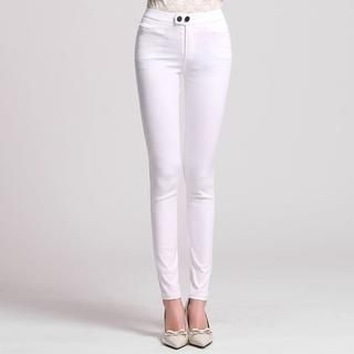 Buttoned Skinny Pants