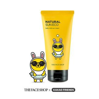 The Face Shop - Kakao Friends Natural Sun Eco Baby Mild Sun Cream SPF30 PA++ 50ml 50ml
