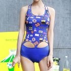 Cutout Printed Swimsuit 1596