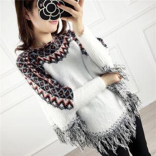 Fringe Trim Sweater 1055378507