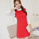 Frill Collar Long-Sleeve Shift Dress 1596