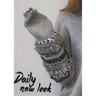 Drop-Shoulder Lace-Detail Knit Top 1596