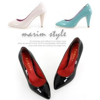 Picture of Marim Pointy Patent Pumps 1022433958 (Pump Shoes, Marim Shoes, Korea Shoes, Womens Shoes, Womens Pump Shoes)
