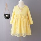Kids Long Sleeve Lace Dress 1596