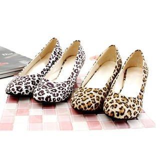 Buy KAWO Leopard Print Wedge Pumps 1022785533