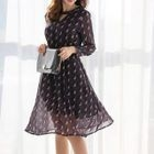 Cutout Patterned Long-Sleeve Dress 1596