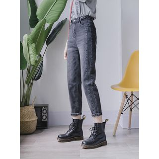 High-waist   Boyfriend   Jean