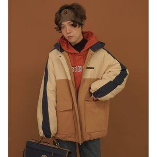 Color Block Zip Jacket