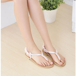 Picture of KAWO Braided Strap Thong Sandals 1022918627 (Sandals, KAWO Shoes, China Shoes, Womens Shoes, Womens Sandals)