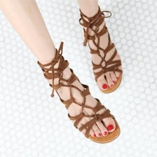 Buy PAUL ANNE Faux-Suede Strappy Sandals 1023043636