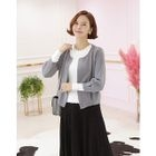 Round-Neck Open-Front Cardigan 1596