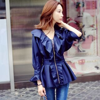 Ruffled Zip Jacket 1054003614