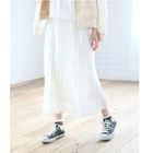 Accordion Pleated Chiffon Skirt 1596