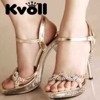 Buy Kvoll Rhinestone Platform Sandals 1022512549