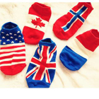 Set of 5: Flag Print Socks 1596