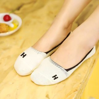 Contrast Trim No Show Socks 1061504314